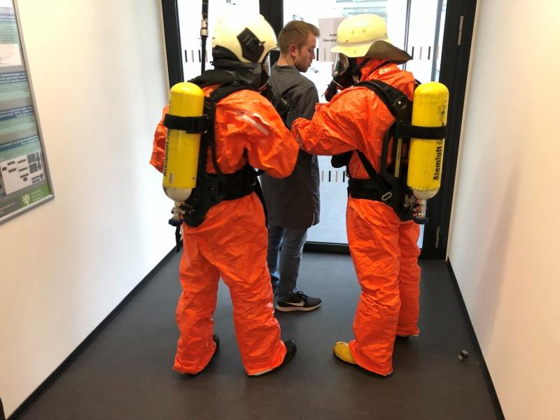Rettung von Personen im Gebäude